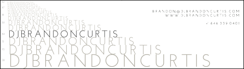 DJ Brandon Curtis Business Card